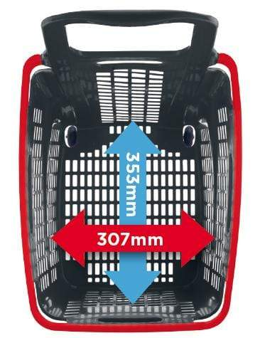 65l plastic shopping basket above