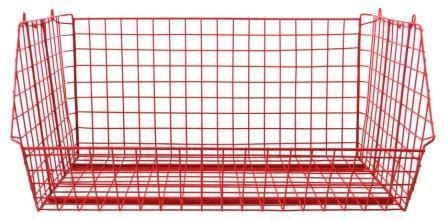 Red C2DS Wire Storage Basket Single