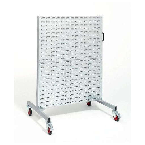 FREESTANDING PARTS BIN RACK with wheels