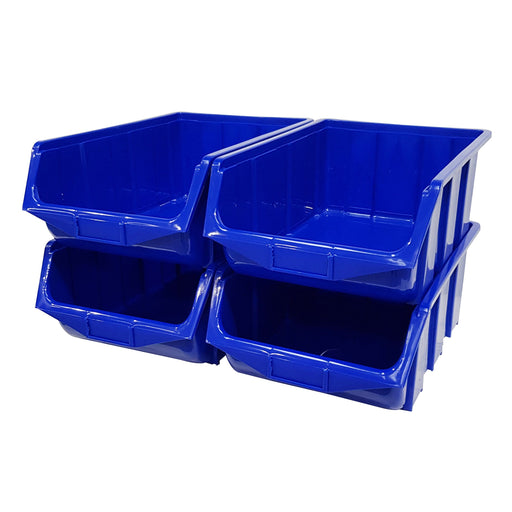 Pack of 4 x Stackable Storage Parts Bin (115)