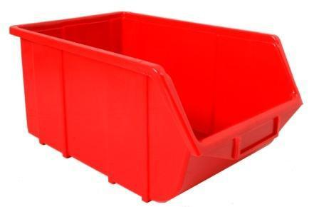 Plastic Parts Bin ECO 114 Red