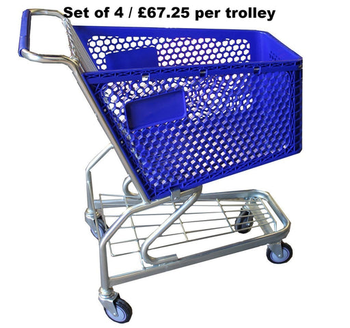 100L blue trolley
