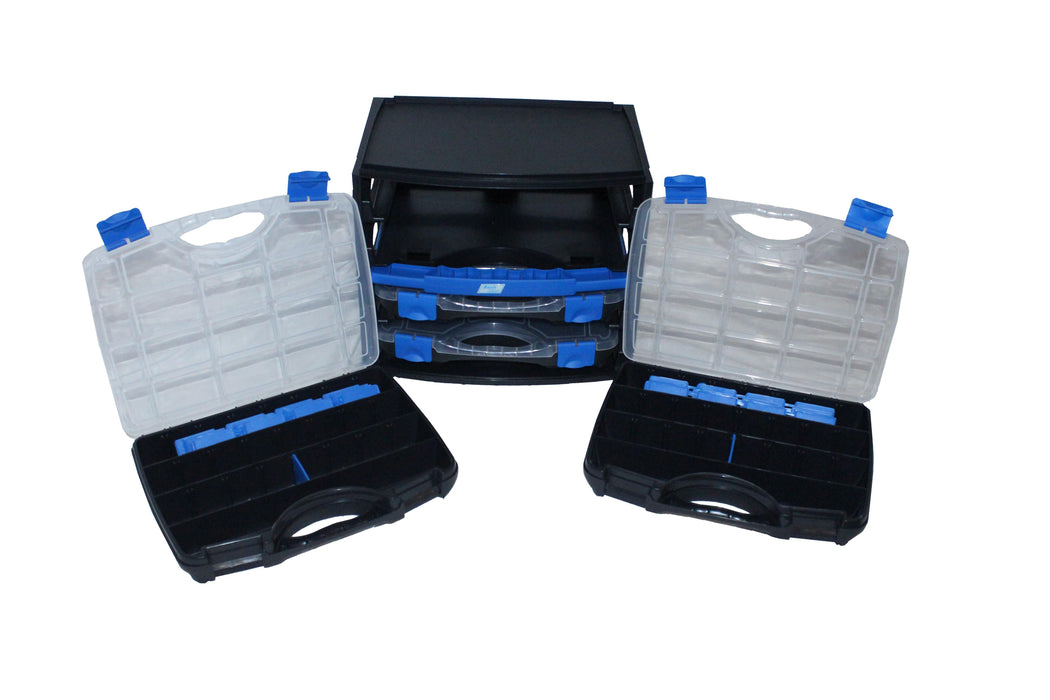 Travel Compartment Organiser (Set of 4 Organisers in Case with Carry Handle)