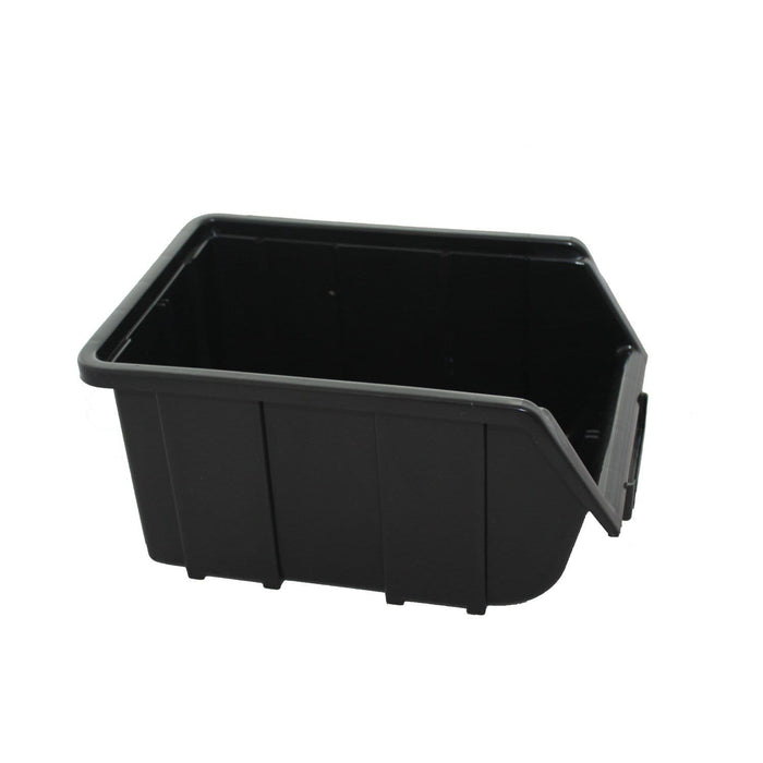 Black Recycled Plastic Parts Storage Bin FB2