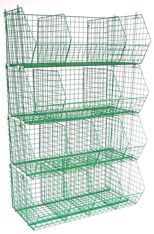 C4 Wire Storage Baskets - Green