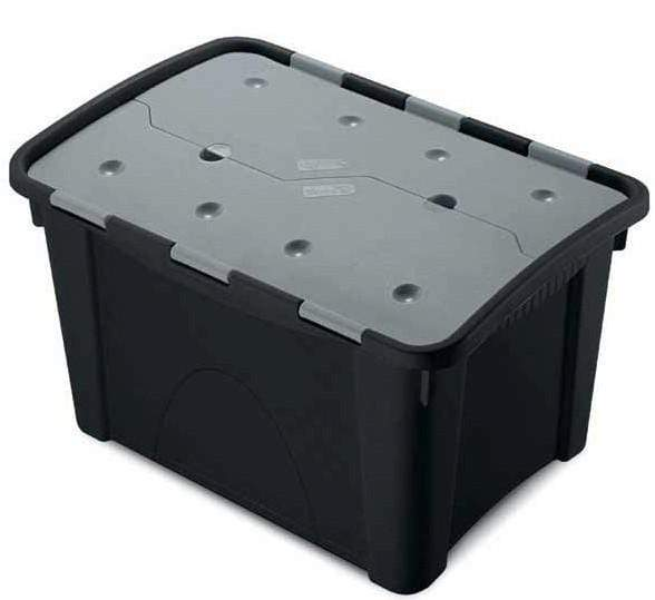 Medium Duty Attached Lid Storage Container Box (60 Litre)