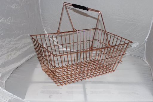 Luxury Copper Wire Shopping Basket (new style)