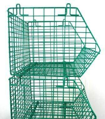 Green Wire Storage Basket Side