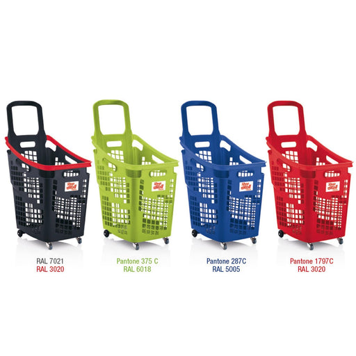 65l plastic shopping basket