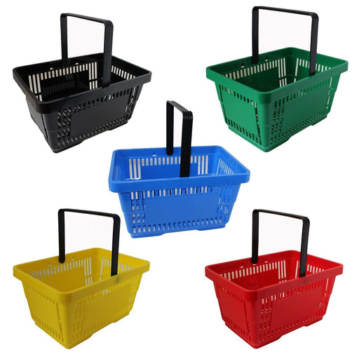 Single Handle Shopping Basket all colours
