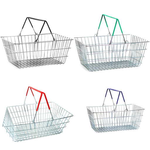 Wire Shopping Baskets - All colours