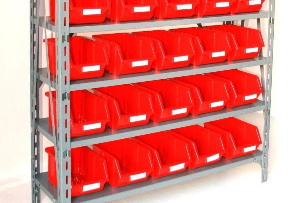 Plastic Parts Bins Red