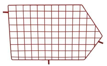 Red Wire Storage Basket  Dividers - Not Included
