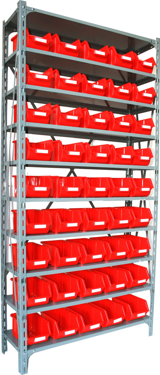 Steel Shelf Unit with 45 Storage Parts Bins