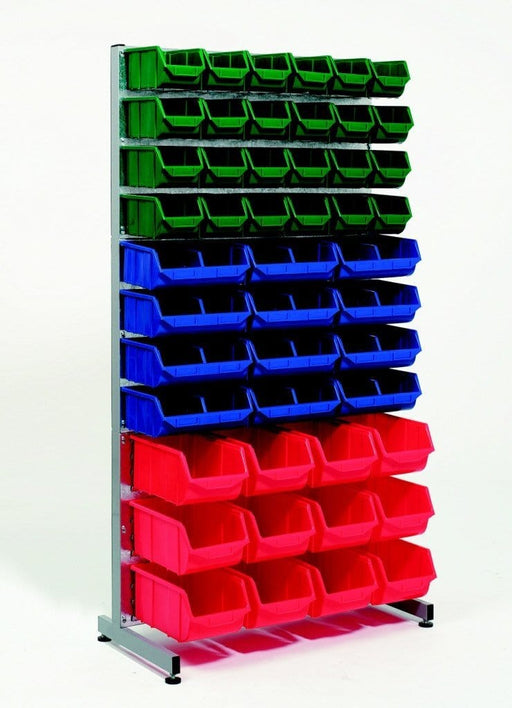 Single Sided Parts Bins Rack with 48Bins