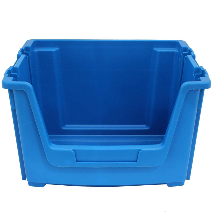 Blue Large Open Front Stacking Storage Pick Bin Containers