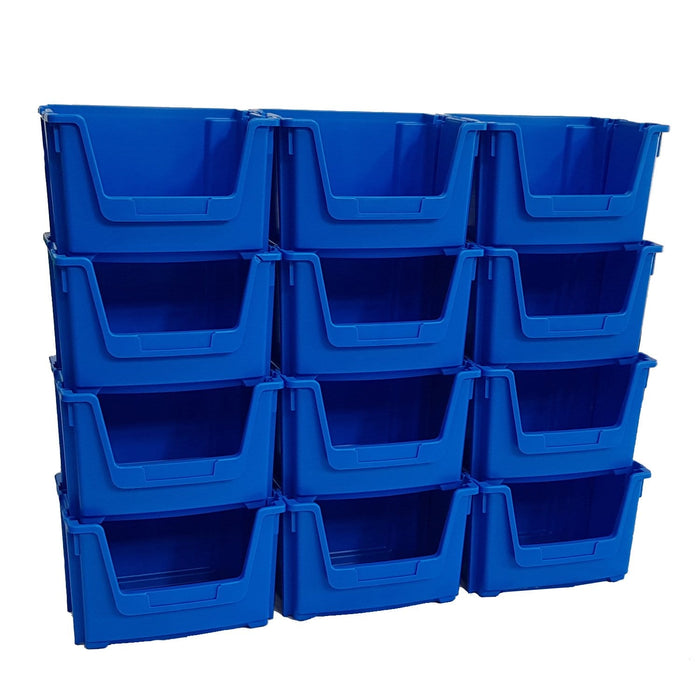 Large Open Front Stacking Storage Picking Wall - Blue