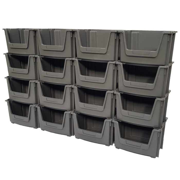 Large Open Front Stacking Storage Picking Wall - Grey