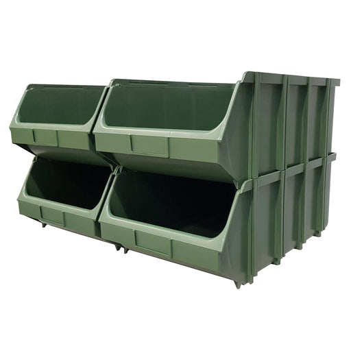Pack of 4 x Interconnecting Union Storage Bin F
