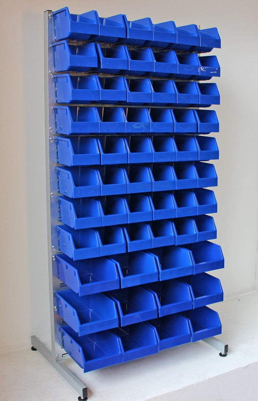Freestanding Louvre Panel Parts Bin Storage Rack
