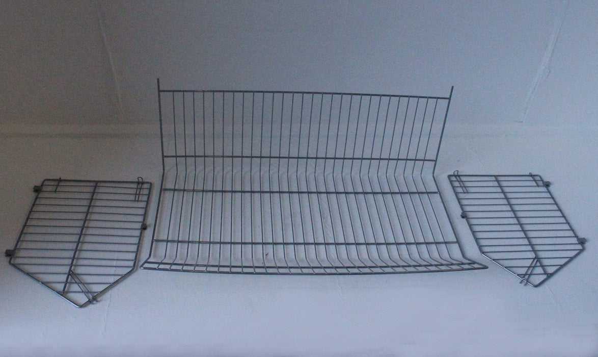 Set of 4 Large Wire Storage Stacking Display Baskets & 8 Dividers
