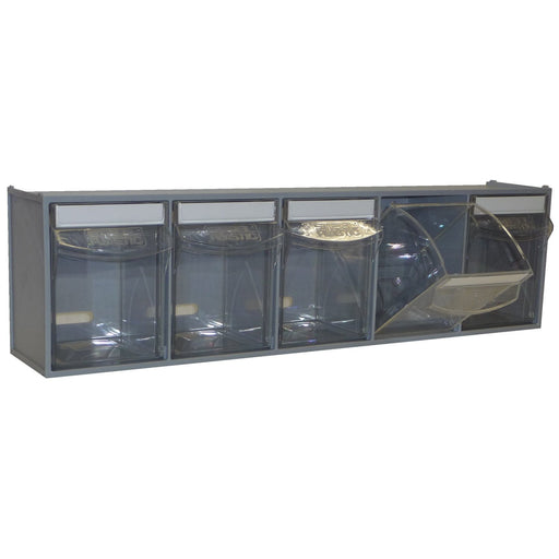 Van Storage Tilt Bin 5 Grey & Locking Bar
