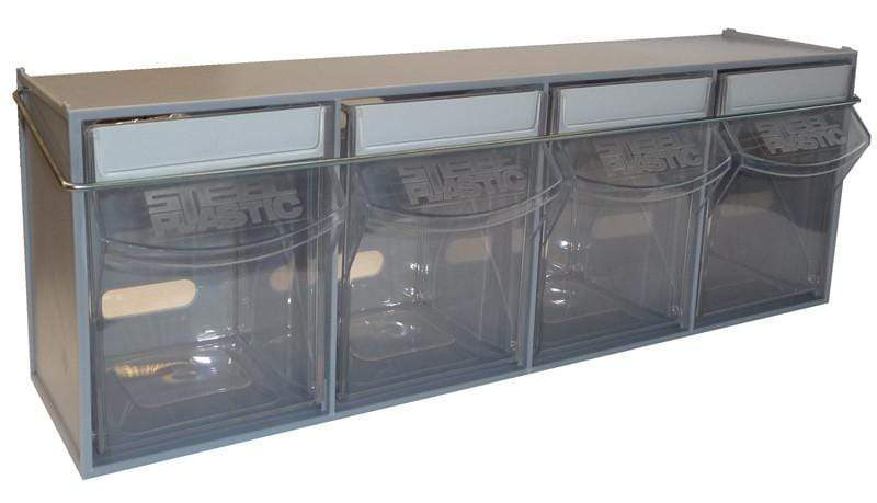 Van Storage Tilt Bin 4 Grey & Locking Bar
