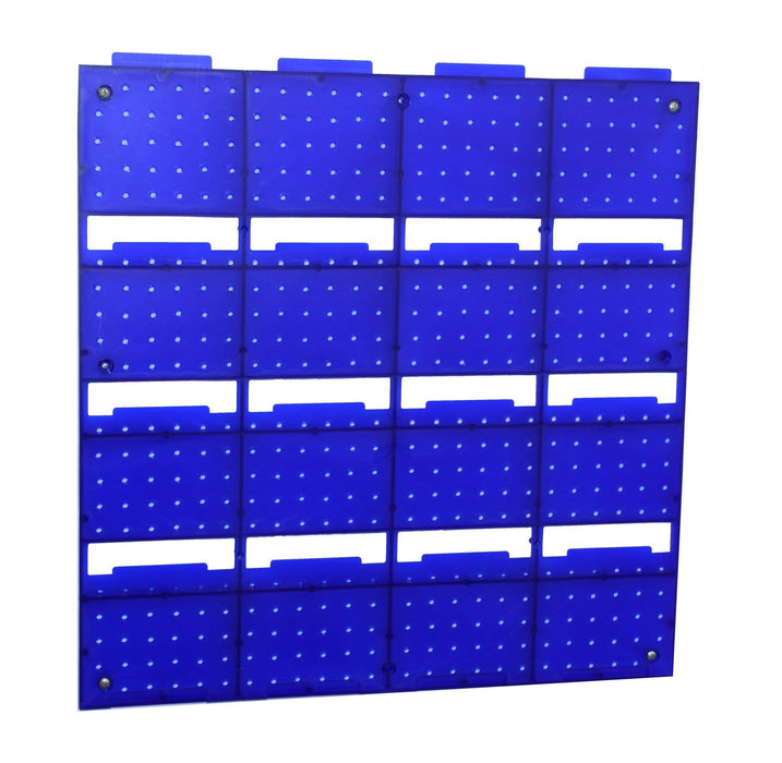 Wall Storage Kit 16 Plastic Parts Bins & Panel (VPB05)