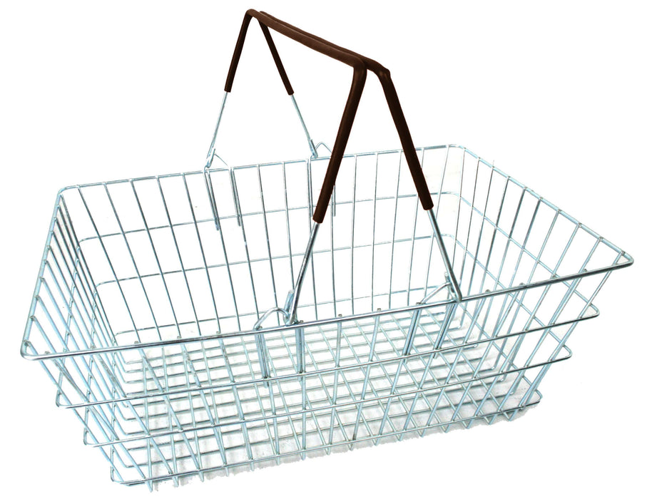 Wire Shopping Baskets - Black Handle