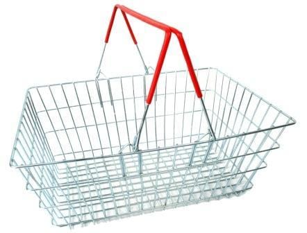 Wire Shopping Baskets - Red Handle