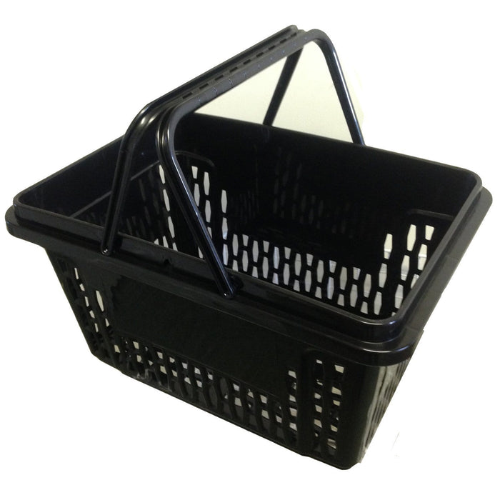 X-Large Black Plastic Shopping Basket (28L)