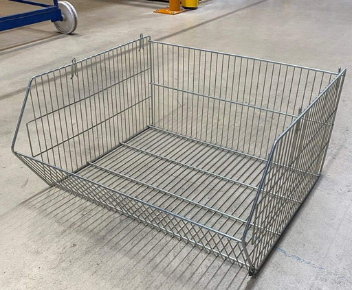 8 x Large Stackable Wire Metal Storage Display Baskets