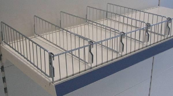Wire Dividers for Shop Shelving