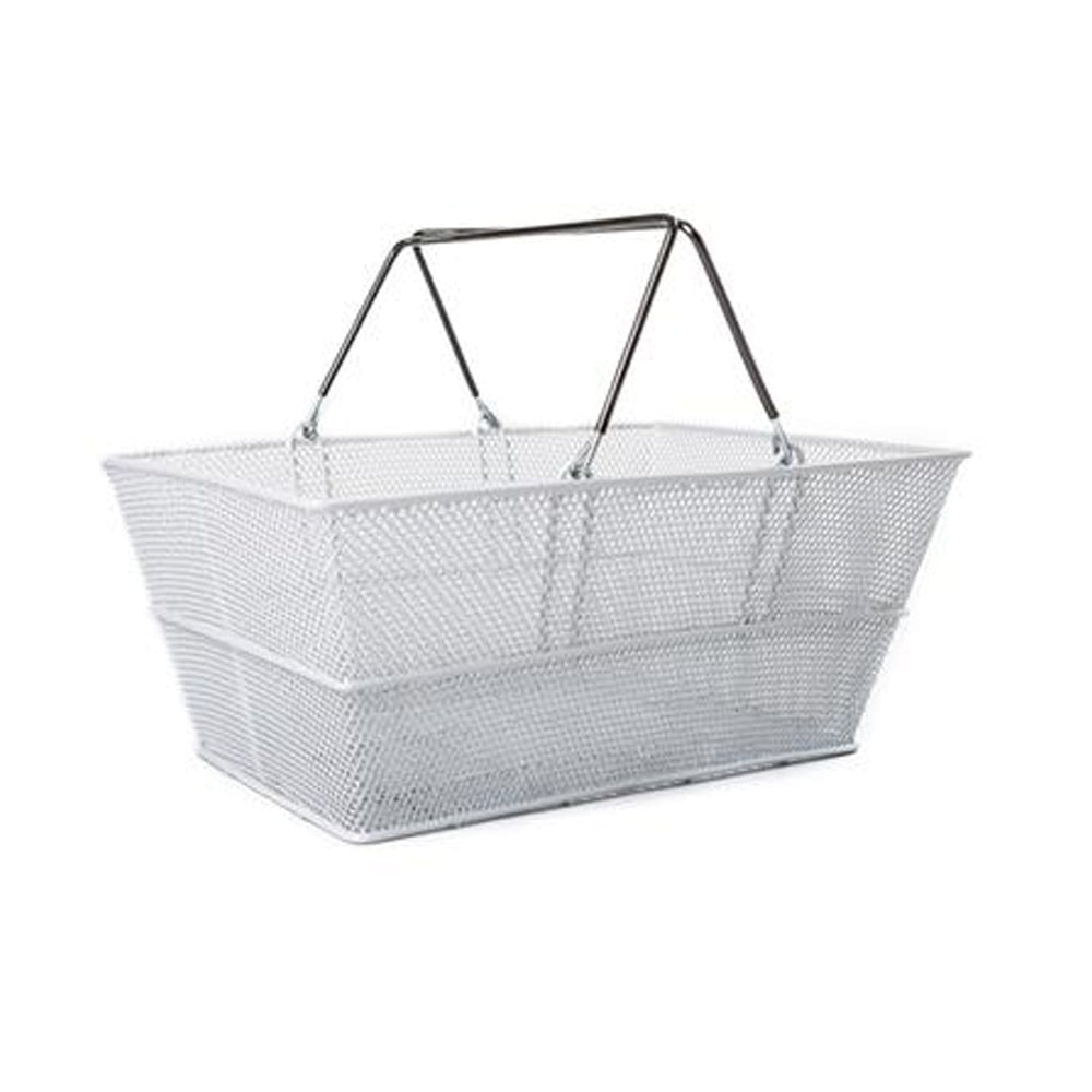 Silver Luxury Shopping Basket