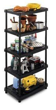 Vented Recycled Plastic Shelving 70kg/level 2436/5