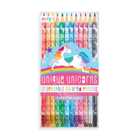 OOLY - Unique Unicorns Erasable Colored Pencils - Set of 12