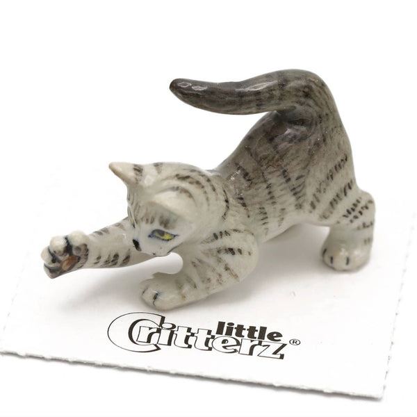 "Little Critterz ""Lily"" Grey Tiger Kitten Porcelain Miniature"
