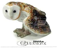 "Little Critterz ""Paleface Barn Owl Hand Painted Porcelain Figurine"