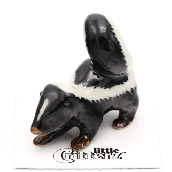"Little Critterz ""Stinker"" Skunk Porcelain Miniature"