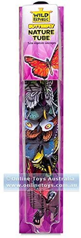 Wild Republic Butterfly Nature Tube Tube,  12-piece