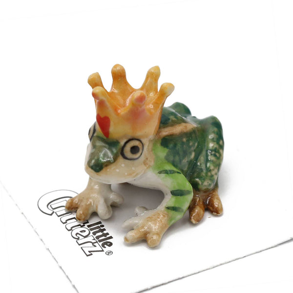 "Little Critterz ""Kiss"" Frog Prince Porcelain Miniature"