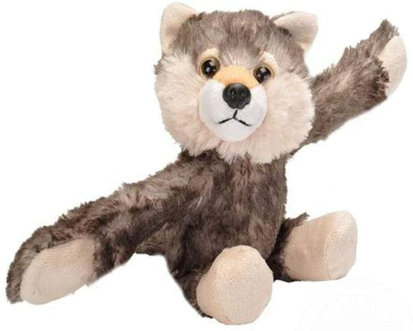Wild Republic Huggers Wolf Plush Toy, Slap Bracelet