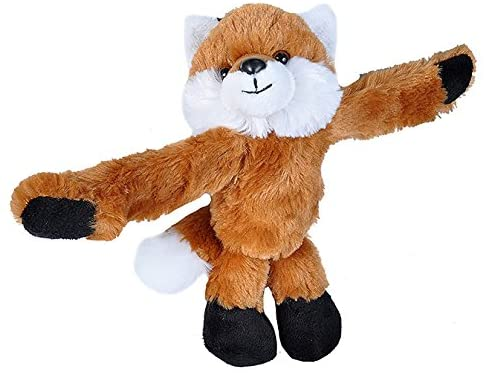 Wild Republic Huggers Red Fox Plush, Slap Bracelet, 8 inches