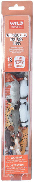 Wild Republic Endangered Animals Nature Tube, 18-Piece