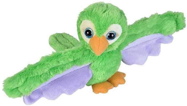 Wild Republic Huggers Green Parrot Plush Toy, Slap Bracelet