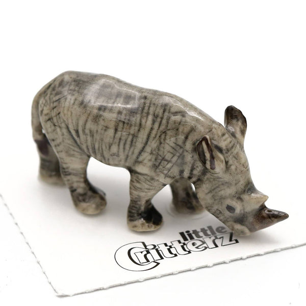 "Little Critterz ""Zulu"" White Rhino Porcelain Miniature"