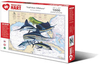 "Hart Jigsaw Puzzle 1000 Piece 24"" x 30"" X-Large Gulf Slam Offshore by Steve Whitlock"