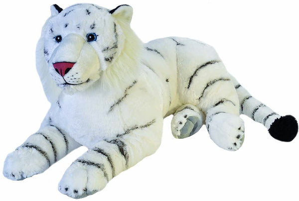 Wild Republic Jumbo White Tiger Plush Toy 30""