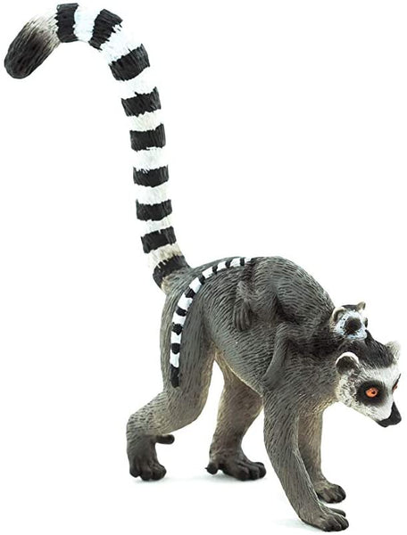 MOJO Lemur with Baby Toy Figure