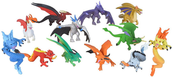 Wild Republic Dragon Figurines Tube